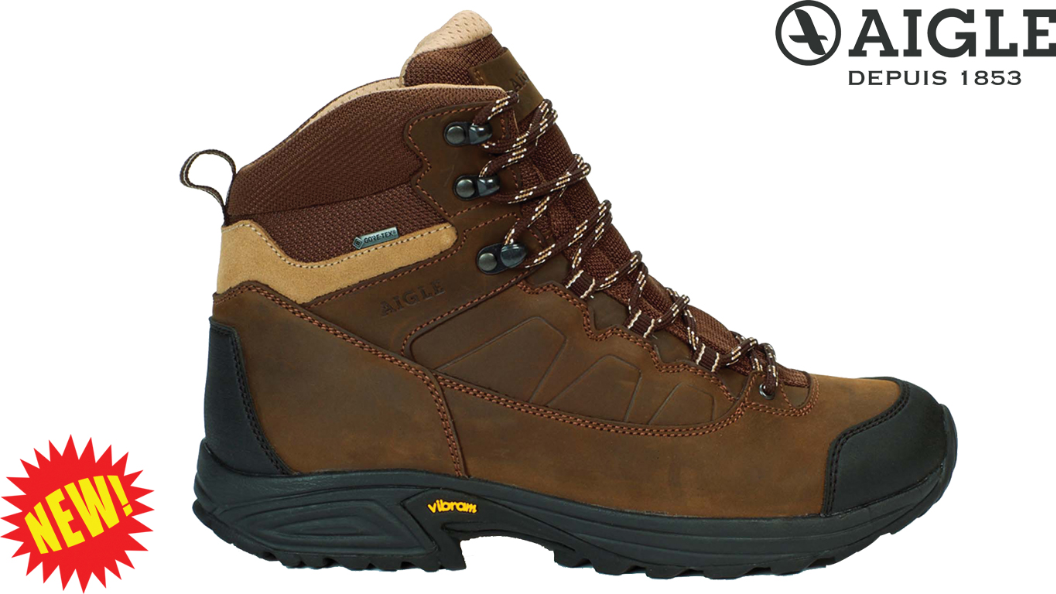 Mooven LTR GTX Leather Goretex Walking Boots By Aigle