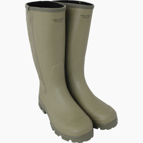 Jack Pyke Ashcombe Zipped Wellington Boots Green