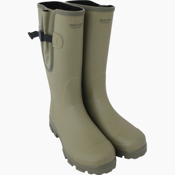 Jack Pyke Ashcombe Gusseted Wellington Boots Green