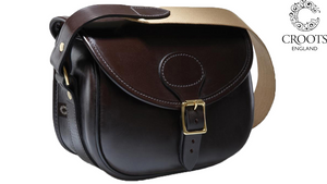 Malton Bridle Leather Cartridge Bag by Croots