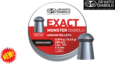 JSB Exact Monster .177 Pellets, Tin of 400