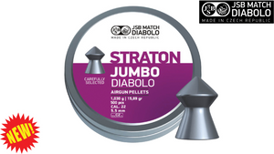 JSB Exact Straton Jumbo .22 Pellets, Tin of 500