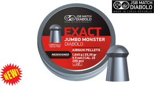 JSB Jumbo Exact Monster .22 Pellets, Tin of 200