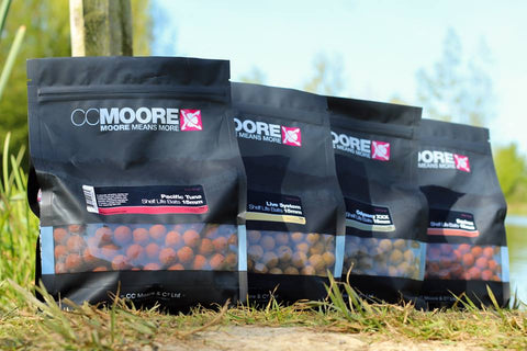 CC Moore Shelf Life Boilies 1kg Bags - Pacific Tuna, Live System, Equinox, Odyssey XXX