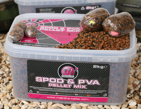Mainline Spod & PVA Pellet Mix 2kg Bucket