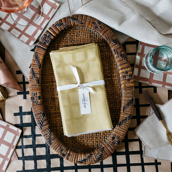 Grid Napkin / Placemat in Gold