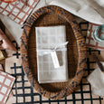 Grid Napkin / Placemat in Natural