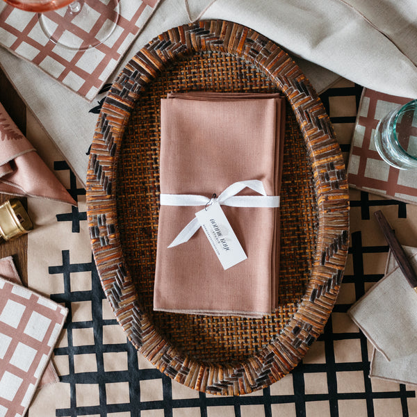 Solid Tobacco Brown Napkin / Placemat