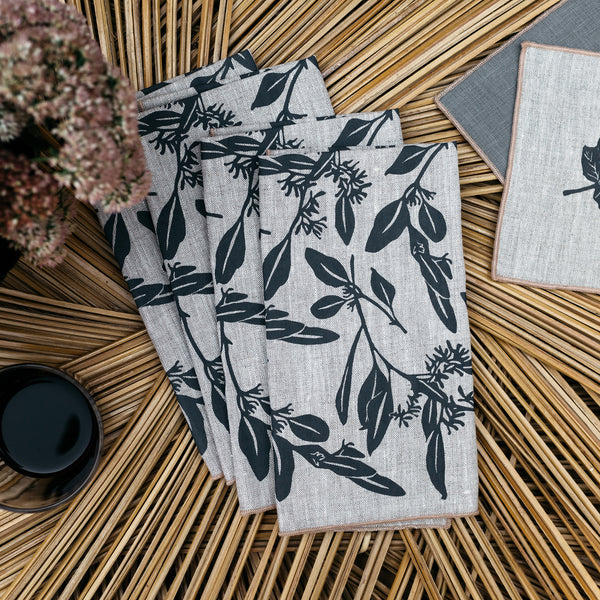 Eucalyptus Napkin / Placemat in Gray