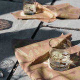 Eucalyptus Napkin / Placemat in Metallic Gold