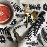 Fern Napkin / Placemat in Black