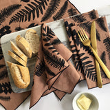 Fern Napkin / Placemat on Tobacco