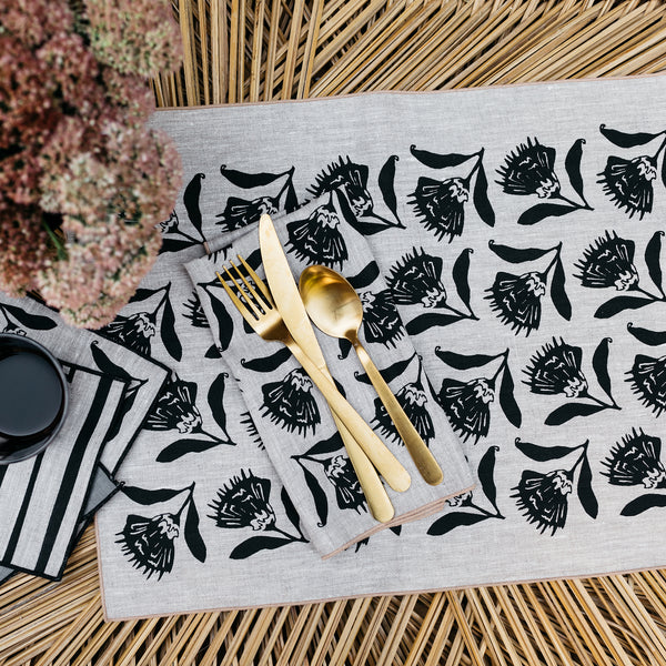 Thistle Napkin / Placemat in Black