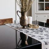 Maple Leaf Table Runner in Gray