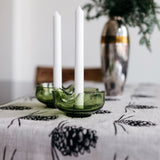 Pine Cone Table Runner in Black