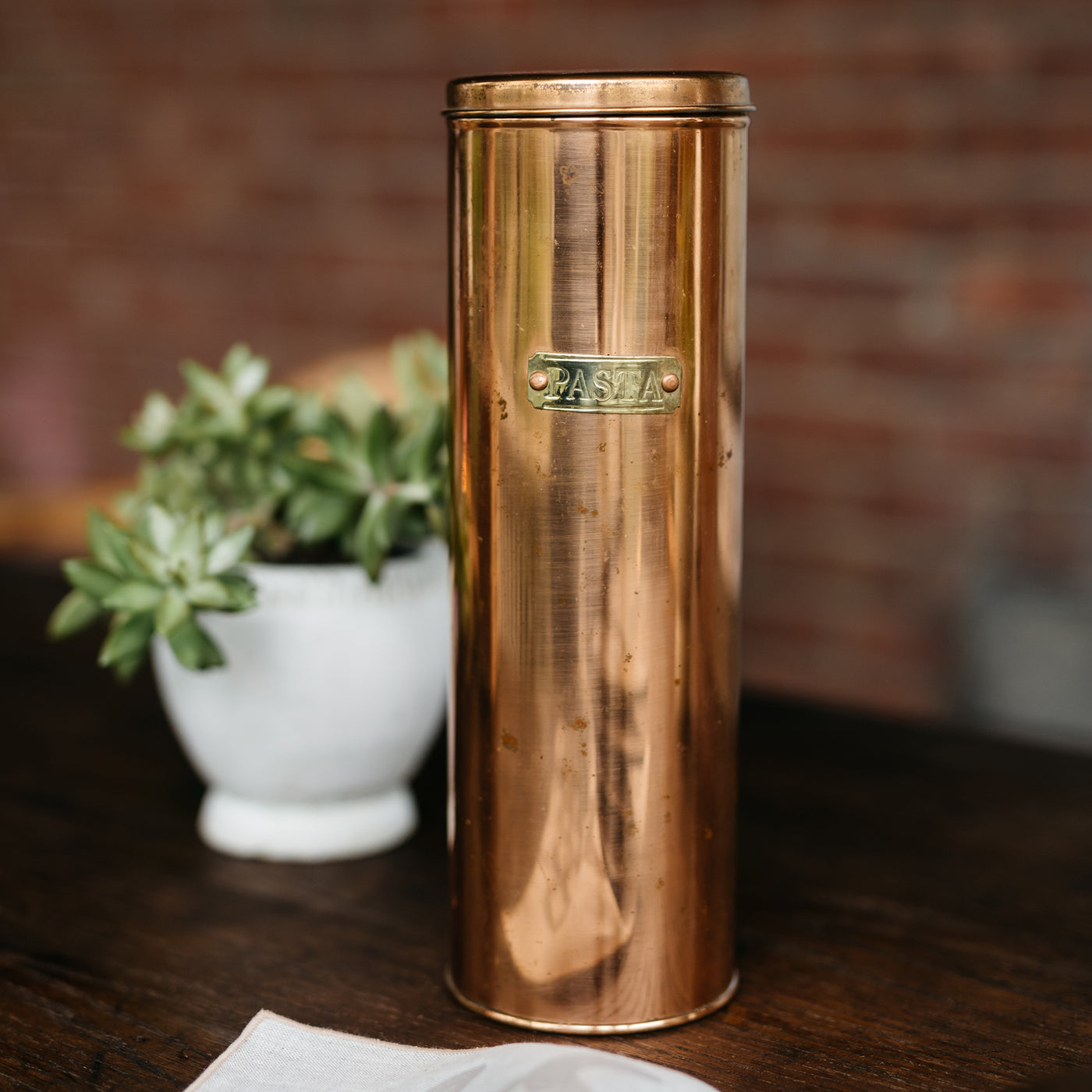 Copper Pasta Container