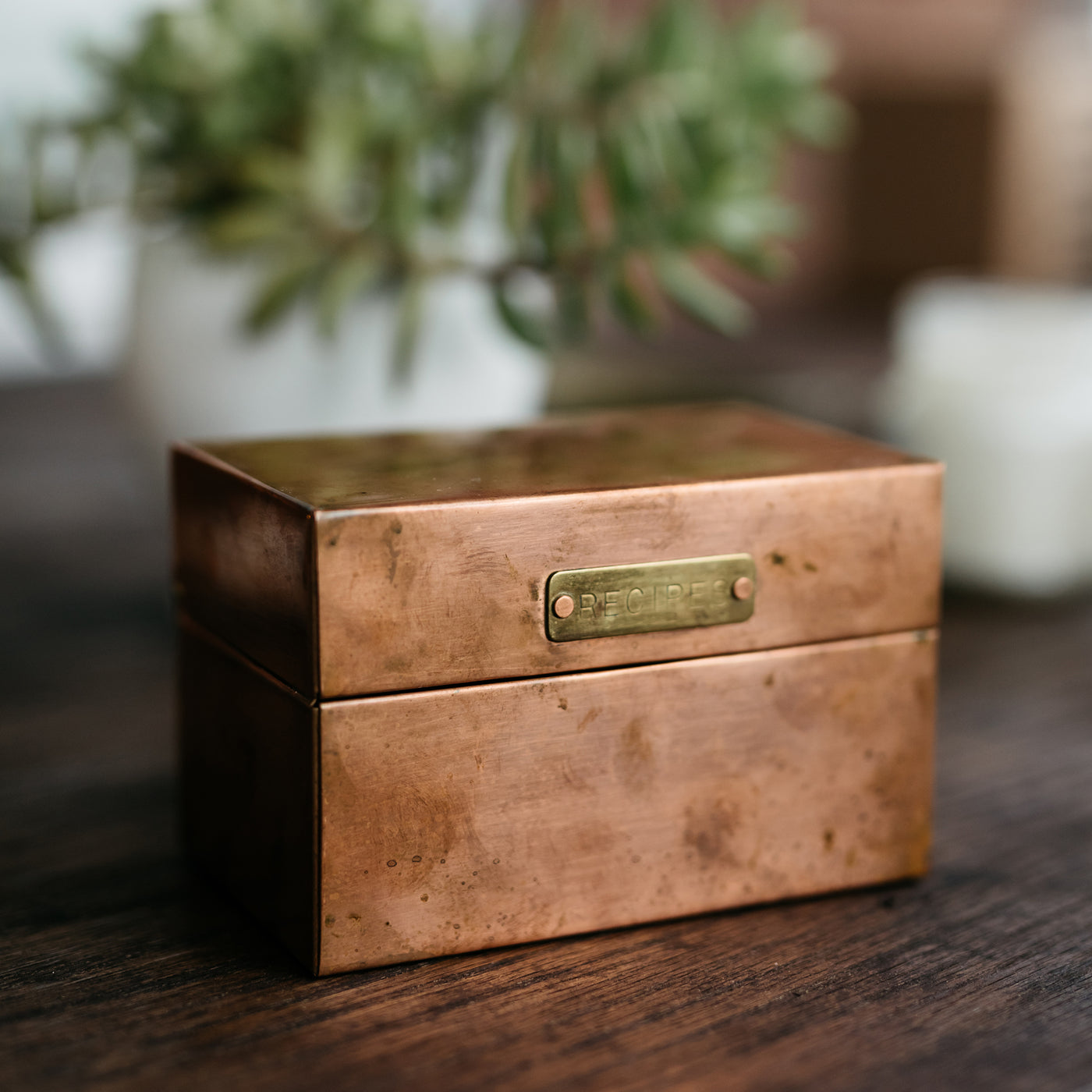 Copper Recipe Box