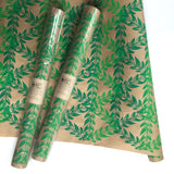 Botanical Leaf Wrapping Paper - Green Ombre