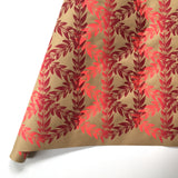 Botanical Leaf Wrapping Paper - Red to Pink Ombre