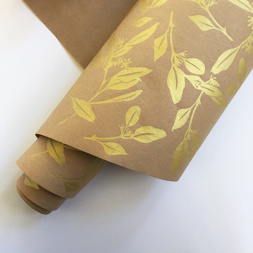 Eucalyptus Wrapping Paper - Gold