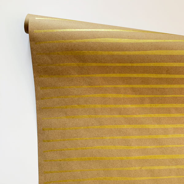 Striped Paper - Gold