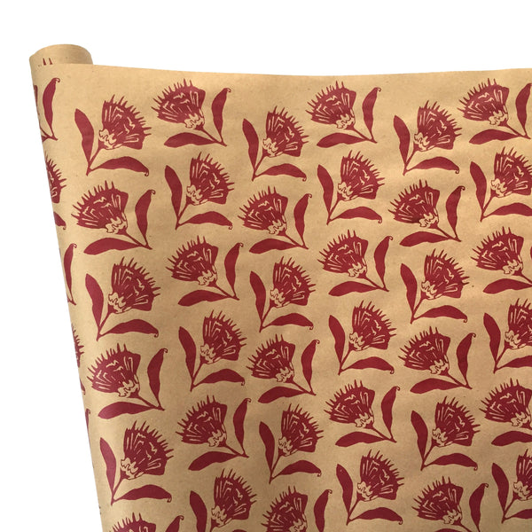 Thistle Wrapping Paper - Berry