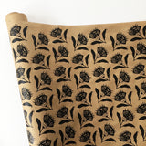 Thistle Wrapping Paper - Black
