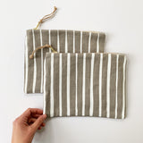 Stripes Zipper Pouch