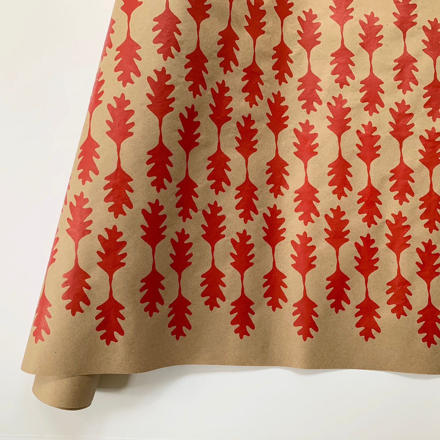 Oak Leaf Paper - Red