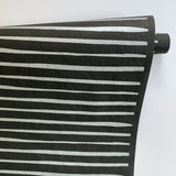 Stripes Paper - Silver on Black