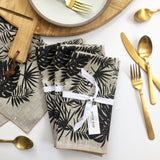 Tropical Napkin / Placemat in Black