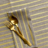 Striped Napkin / Placemat in Metallic Gold