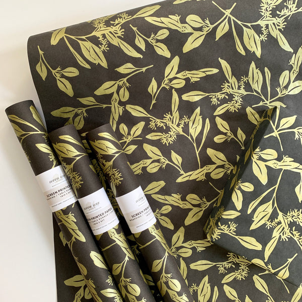 Eucalyptus Paper - Gold on Black
