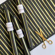 Striped Paper - Gold on Black