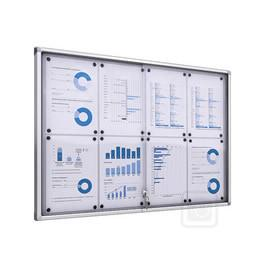 Display Products | Lockable Noticeboard with Glass Sliding Door- Indoor - TRADEframes.co.uk
