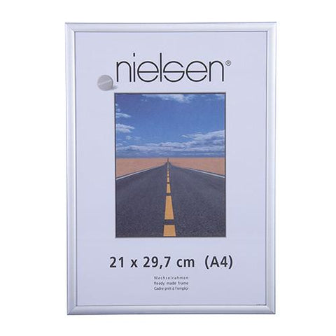 Silver Photo Frames | Nielsen Pearl Aluminium Matt Silver - TRADEframes.co.uk