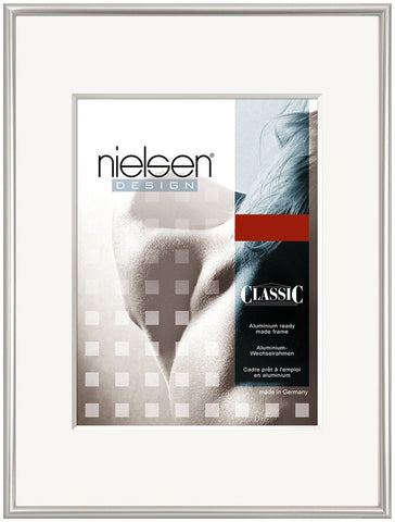 Aluminium Poster Frames | Nielsen Classic Polished Silver - TRADEframes.co.uk