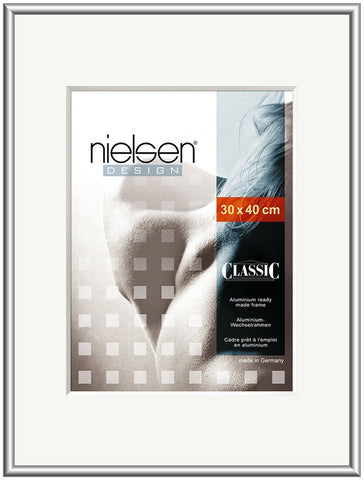 Nielsen Classic Frosted Silver Frames