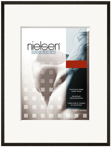 Nielsen Metal Frames | Nielsen C2 Black Soft Look  - TRADEframes.co.uk