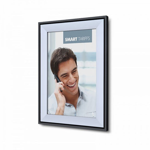 A0 Silver Aluminium Executive Snap Frame 37mm