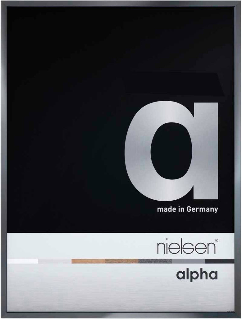 Nielsen Alpha Polished Dark Grey 18 x 24cm Aluminium Frame - Trade Frames