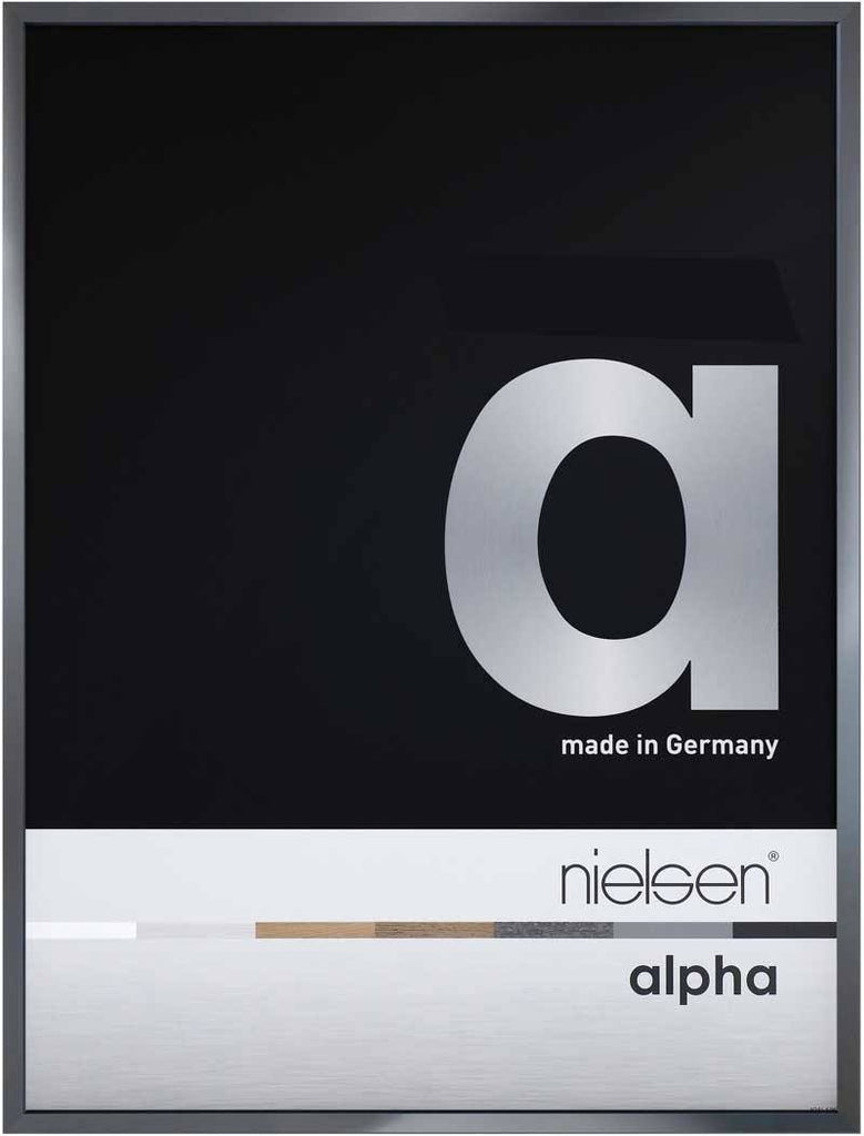 Nielsen Alpha Polished Dark Grey 40 x 50 cm Aluminium Frame - Trade Frames