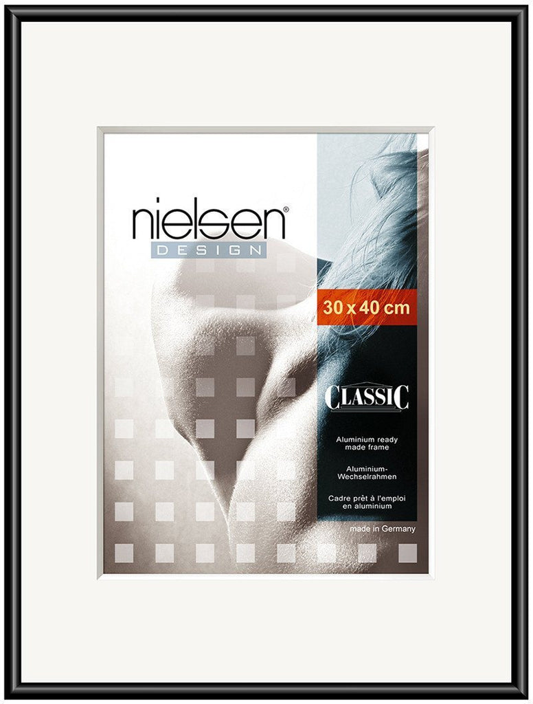 Classic Polished Black 30 x 30 cm SQUARE - Trade Frames