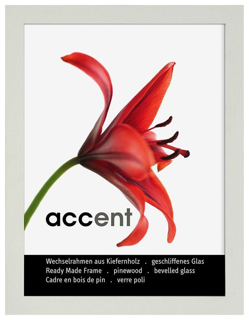 Nielsen Accent Wood White A4/ 21 x 29.7 cm Glass - Trade Frames