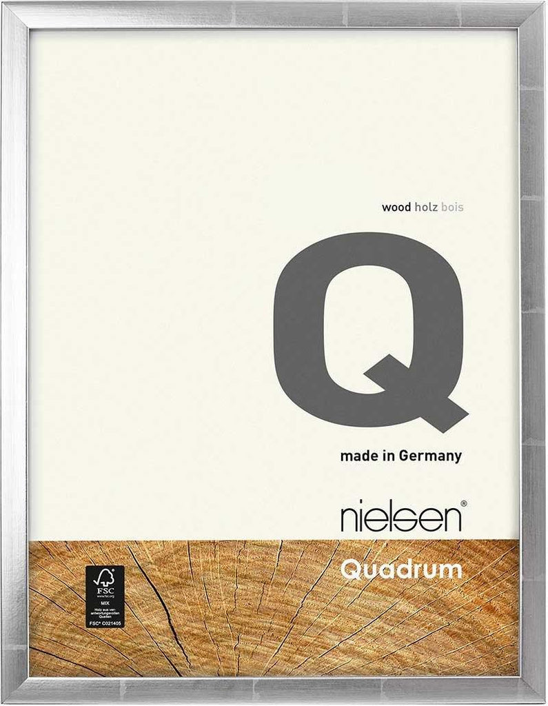 Nielsen Quadrum A3/ 29.7 x 42.1 cm Silver Anthracite Wood - Natural Glass