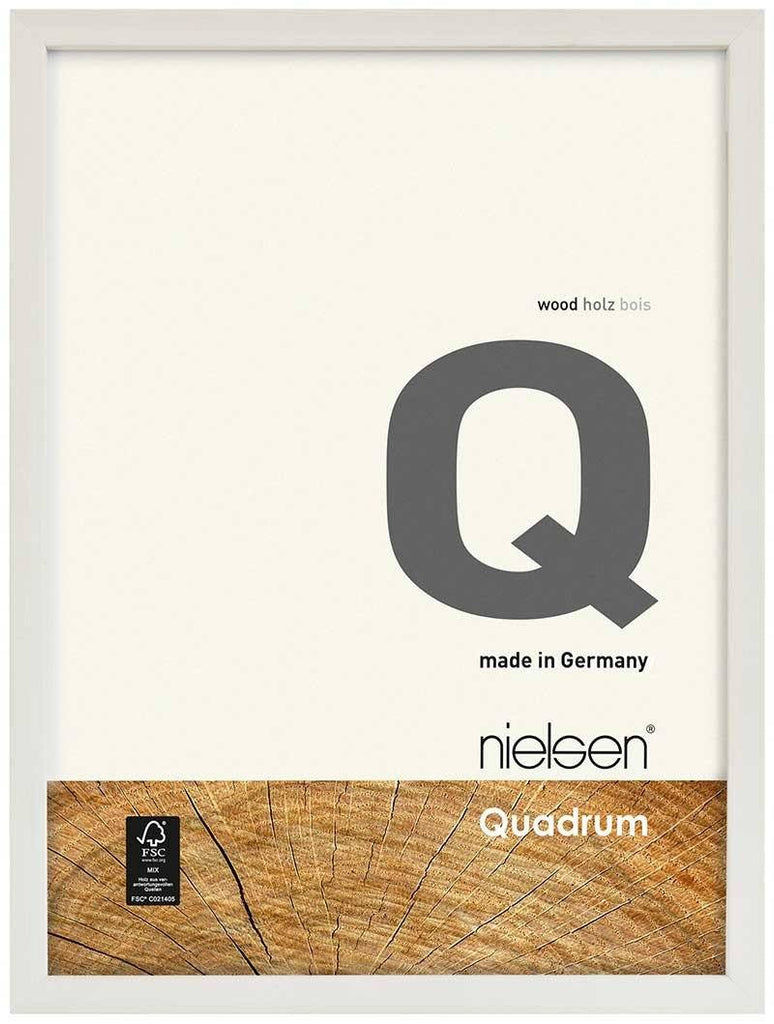 Nielsen Quadrum 40 x 50 cm White Wood - Natural Glass
