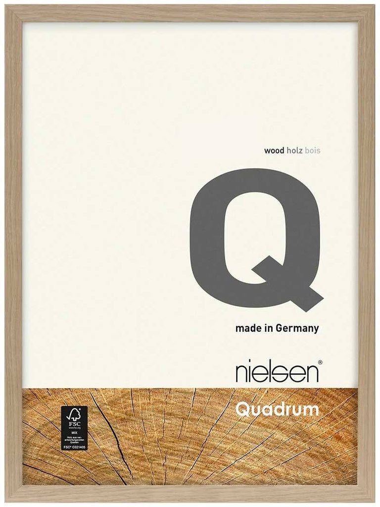 Nielsen Quadrum 40 x 50 cm Oak Wood - Natural Glass