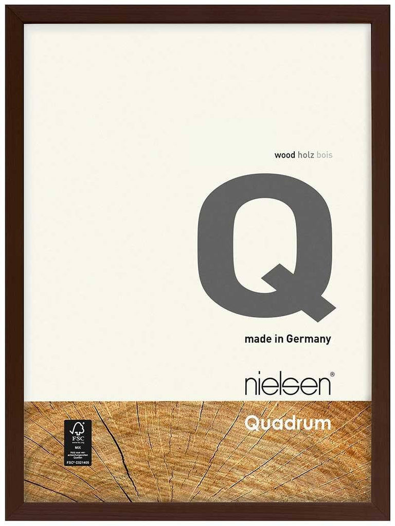 Nielsen Quadrum 50 x 70 cm Wenge Wood - Natural Glass