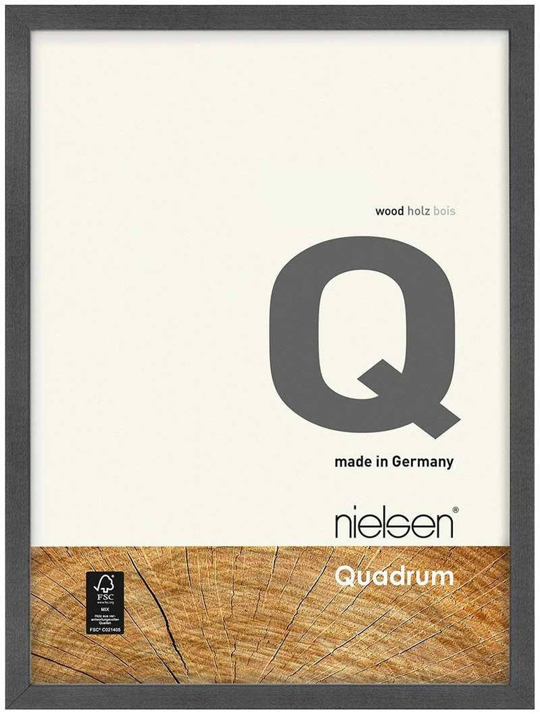 Nielsen Quadrum 50 x 70 cm Grey Wood - Natural Glass