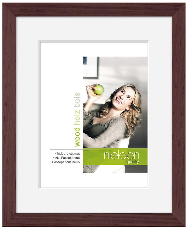"Nielsen Apollo Wenge Wood Frame 24 x 30 cm (7"" x 9"" mount) - Trade Frames"